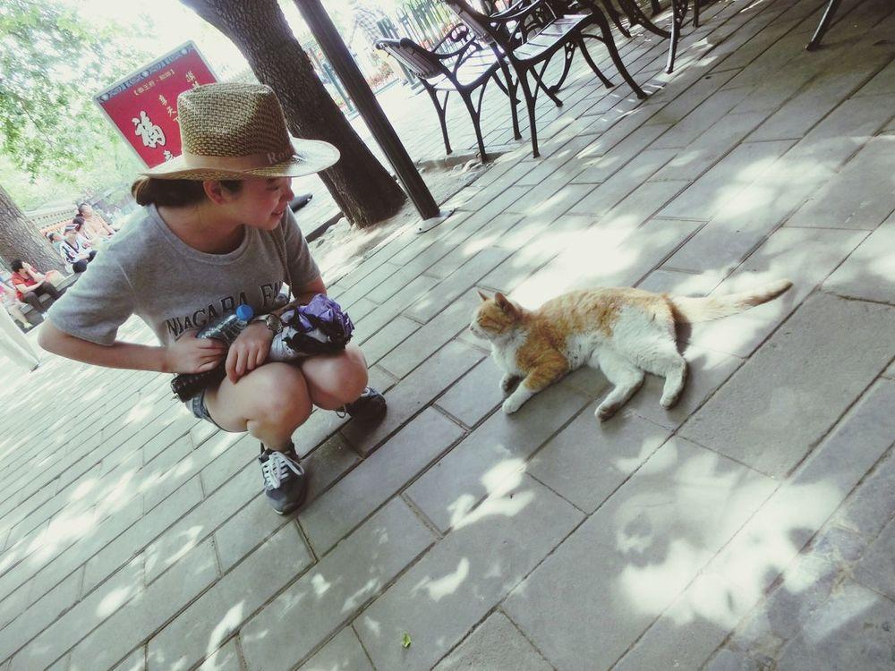 With Cat In beijing