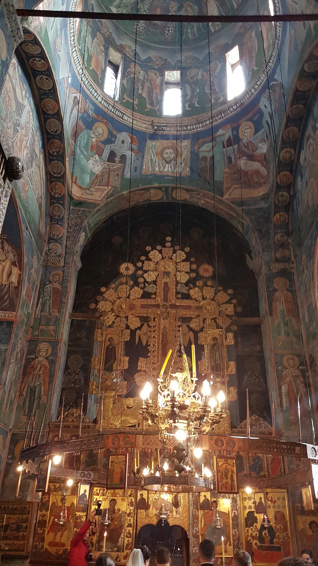 Manastir Morača, Kolašin Monastery Montenegro 🇲🇪 XII Century Curch Interior Curcharchitecture Fresco Decorations Religion Travel Destinations