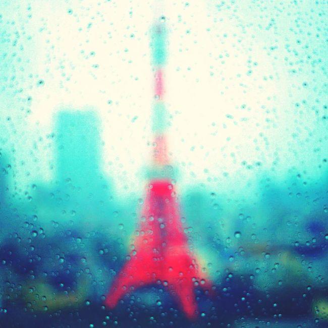 ゲリラ豪雨で東京タワーも霞む Tokyo Tokyo Tower Rain Japan
