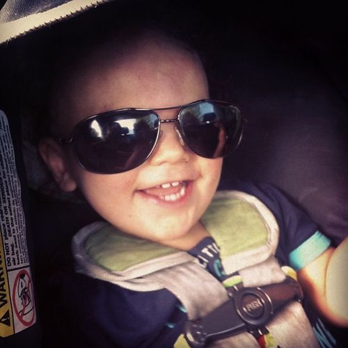 Asher: Heeeeey laaaadies! How YOU doin'? Ladies Babygram Babyoftheday Babiesofinstagram cute adorable sunglasses sunshine picoftheday picoftheweek photooftheday toddler child flirt flirting allthesingleladies
