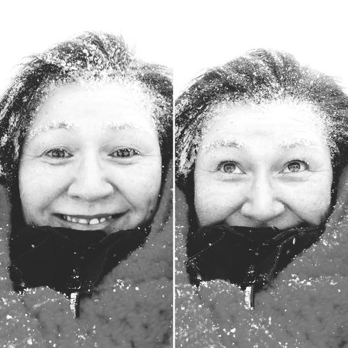 Blackandwhite Its A Beautiful Day Wonderfuld Greenland Snowing Snow In My Hair