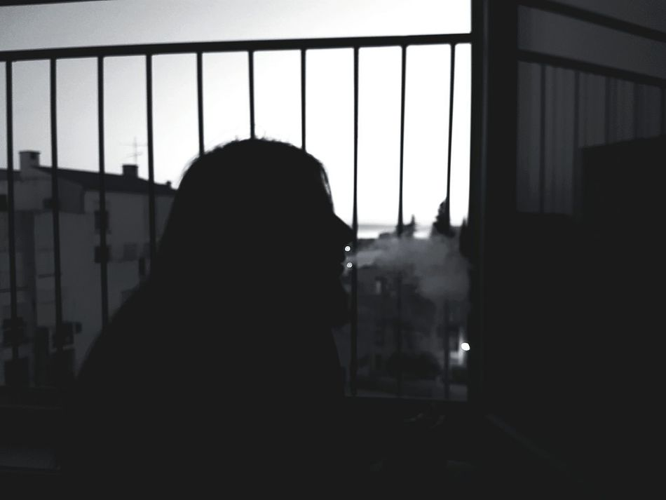 Silhouette One Person Window Indoors  Looking Through Window Adult Men People One Man Only Smoke Cigarette  Cigarette Time Cigarette Break Cigarette Smoke