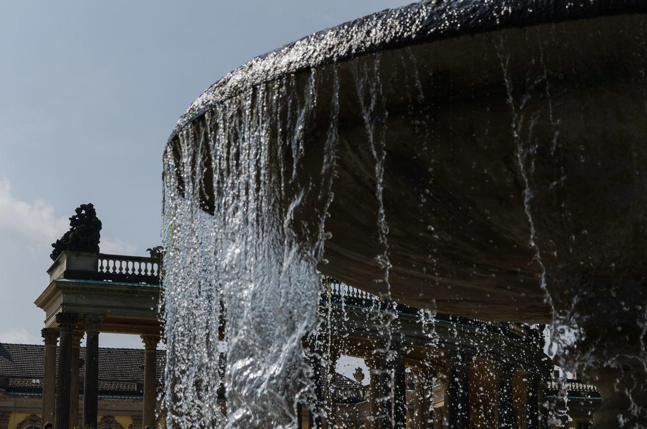 Building Fontain Potsdam Sans Souci Sans Souci Castle Water Waterdrops