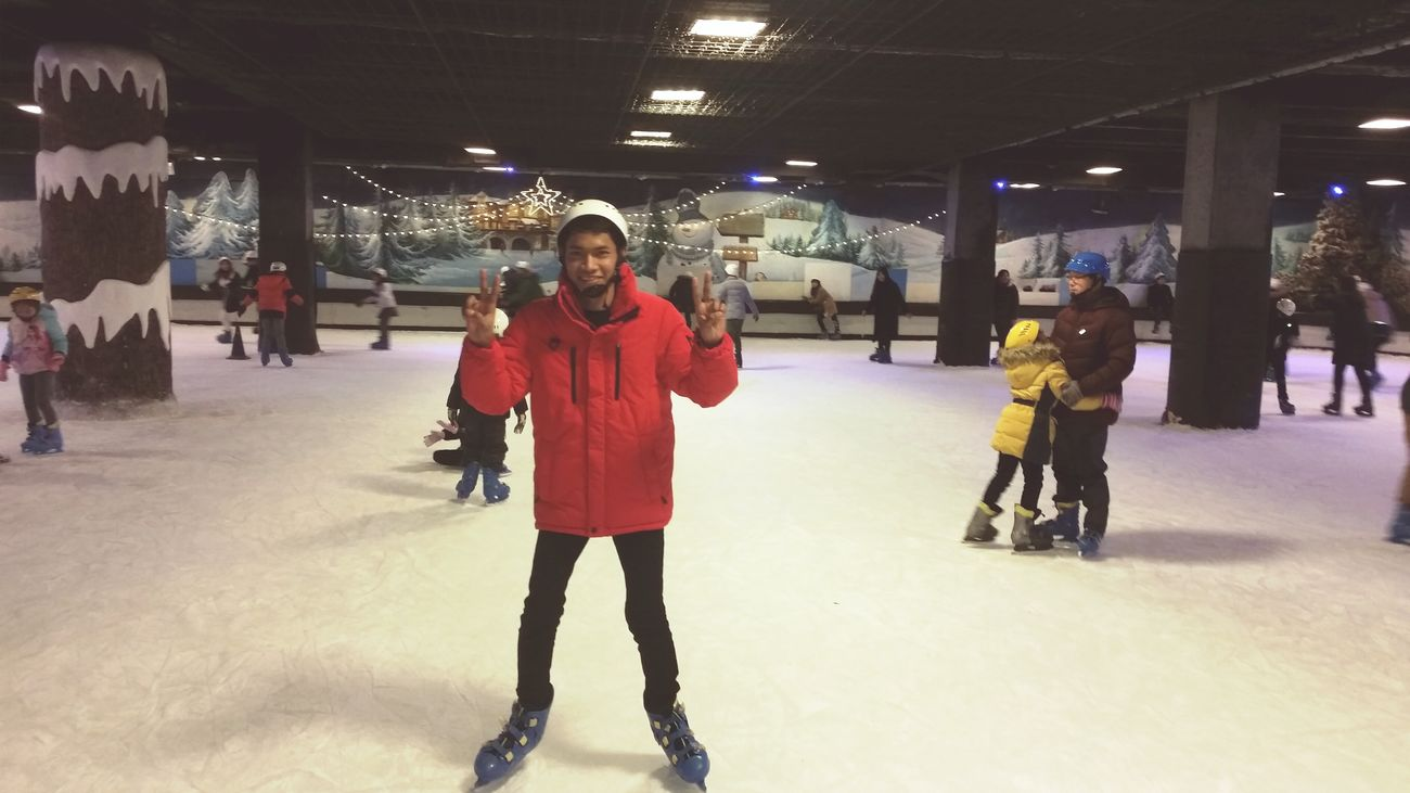 Today ice ❄ skating in daegu tower Ice Ice Skating Holiday Seouth Korea Winter Winter Wonderland Cold Happy