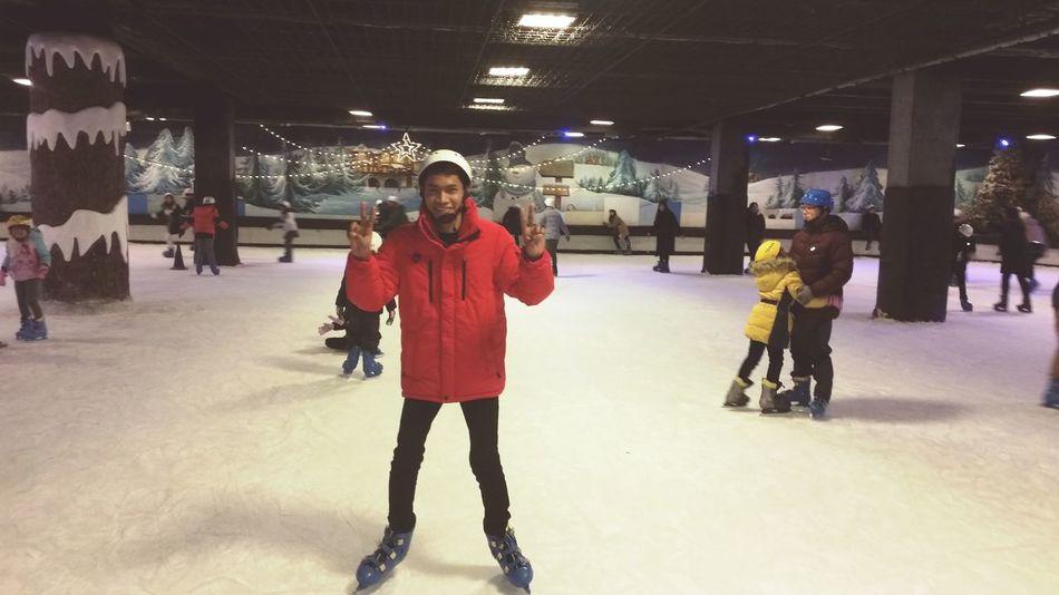 Today ice ❄ skating in daegu tower Ice Ice Skating Holiday Seouth Korea Winter Winter Wonderland Cold Happy