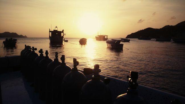 Scuba Diving Scubadiving SCUBA Sunset Taganga Sea And Sky Seascape Seaside Sea_collection