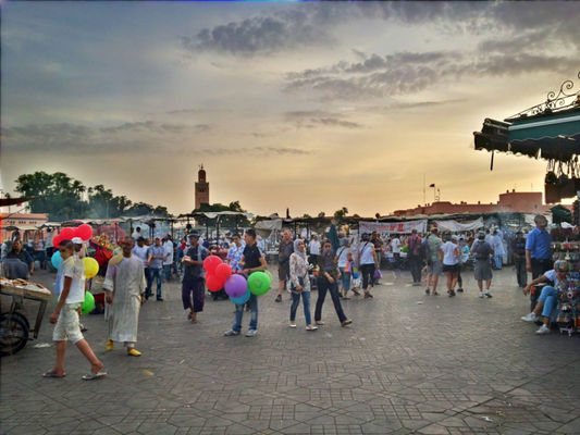 places at Place Jemaa el-Fna by Amine Med