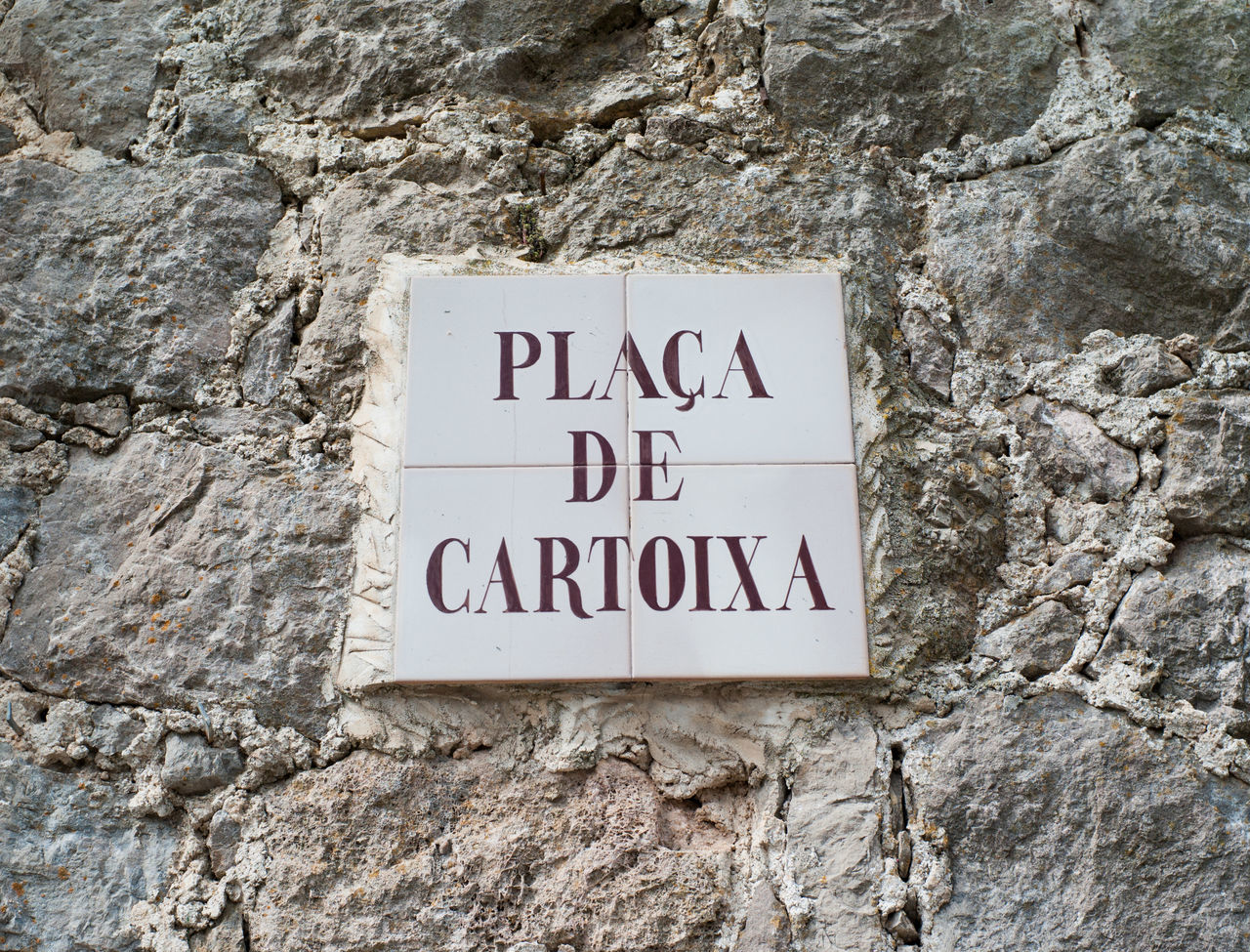 Placa de Cartoixa in Valldemossa on Mallorca island Baleares Balearic Islands Majorca Majorca, Spain Mallorca Mediterranean  Sign SPAIN Street Sign Text Tramuntana Travel Destinations Valldemossa