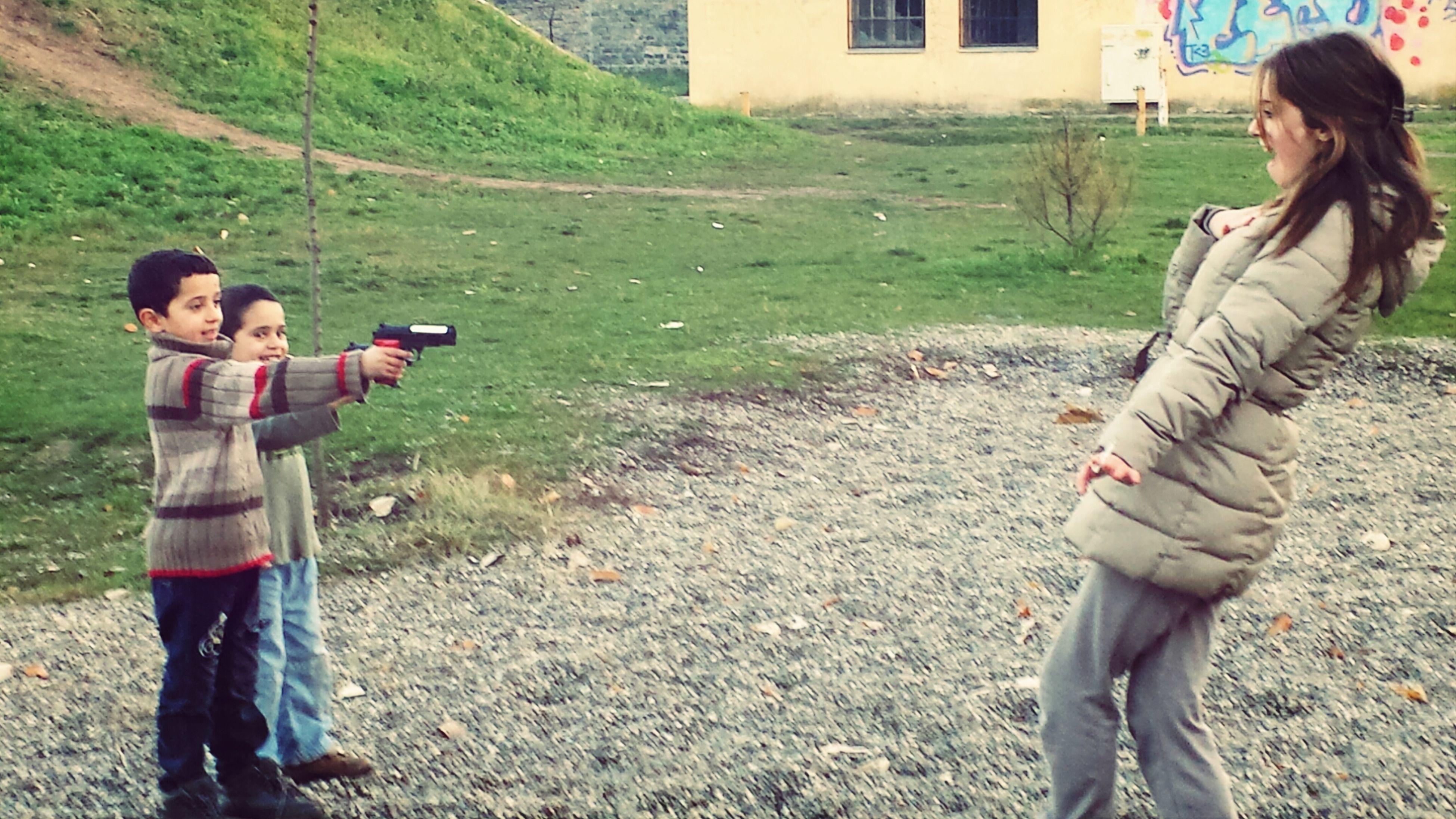 Preparing For Movie Kids Guns Spontaneous