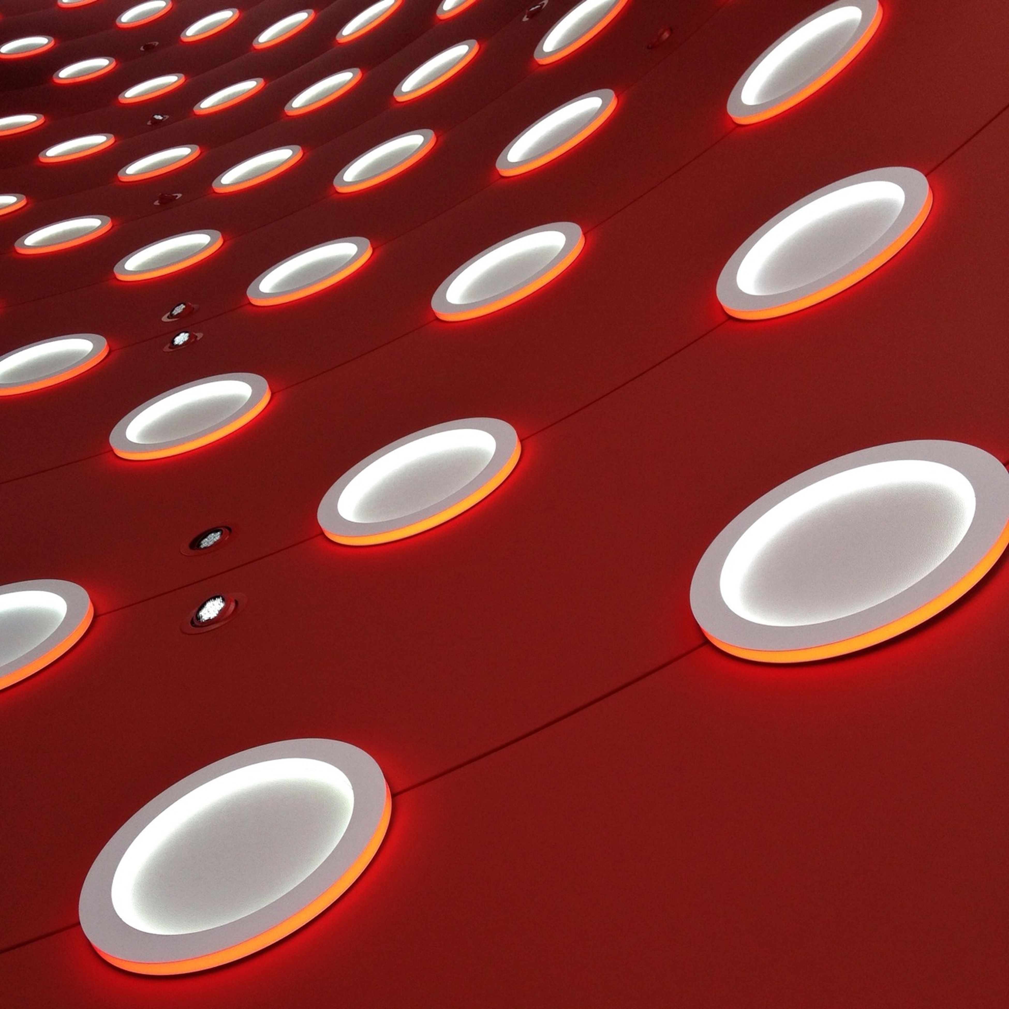 indoors, pattern, red, still life, table, circle, close-up, coffee cup, no people, drink, geometric shape, high angle view, cup, full frame, design, directly above, wall - building feature, backgrounds, metal, shape