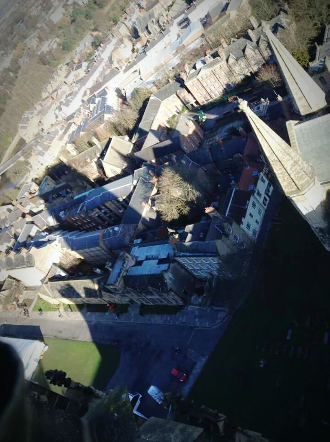 Top View Durham Cathedral On Top Looking Down Shadow Amazing View Enjoying Life Sunny Day Amazing Experience