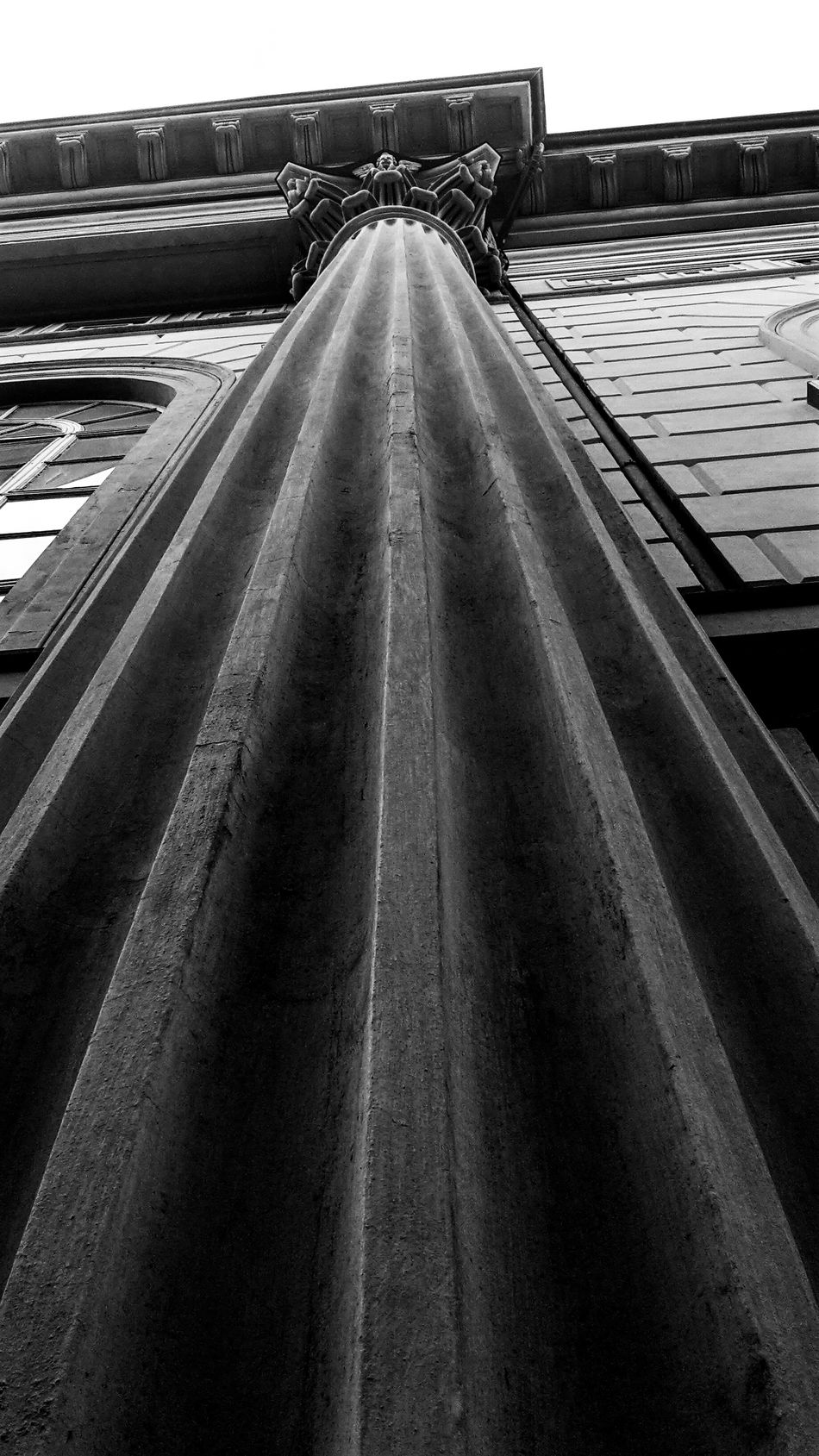 Column Capitals Column Church Black And White Photography Black And White Church Architecture Architecture Structures And Architecture Looking Up My City Walking Around The City  Cloudy Day