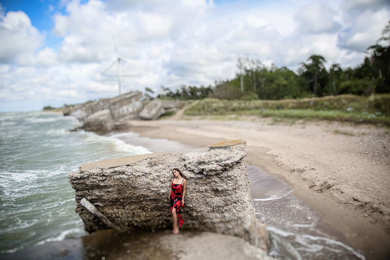 Girl Karosta Landscape Latvia Liepaja Lithuaniagirl Portrait Sea Sea And Sky