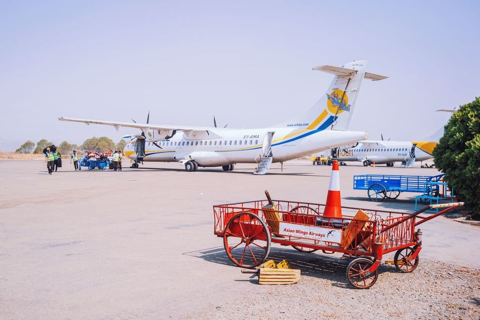 Transportation Airplane Day Outdoors Clear Sky Architecture Sky No People KBZ Atr Myanmar Heho Myanmar