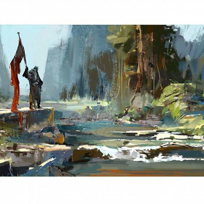 After work study Full ratio here: https://www.artstation.com/artwork/o0k1k Digitalart  Environment Redflag