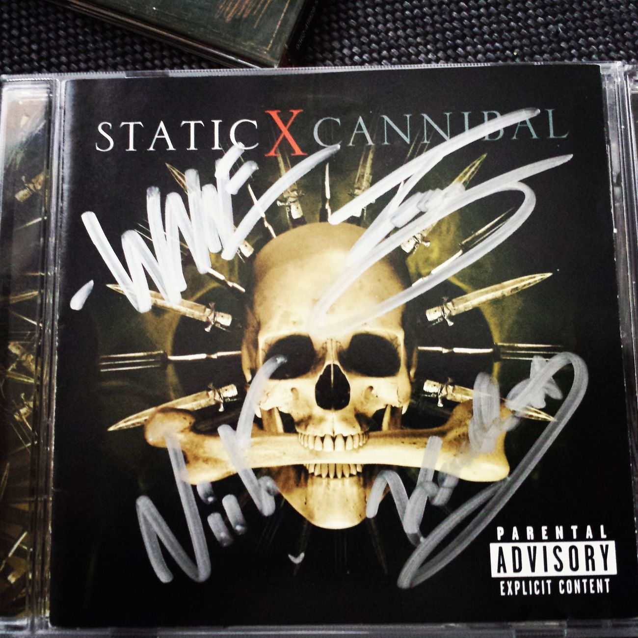 Signed copy of the album Cannibal by Static-X. Autographs
