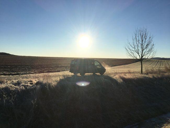 Winter Cold Temperature Sunrise Multivan Volkswagen