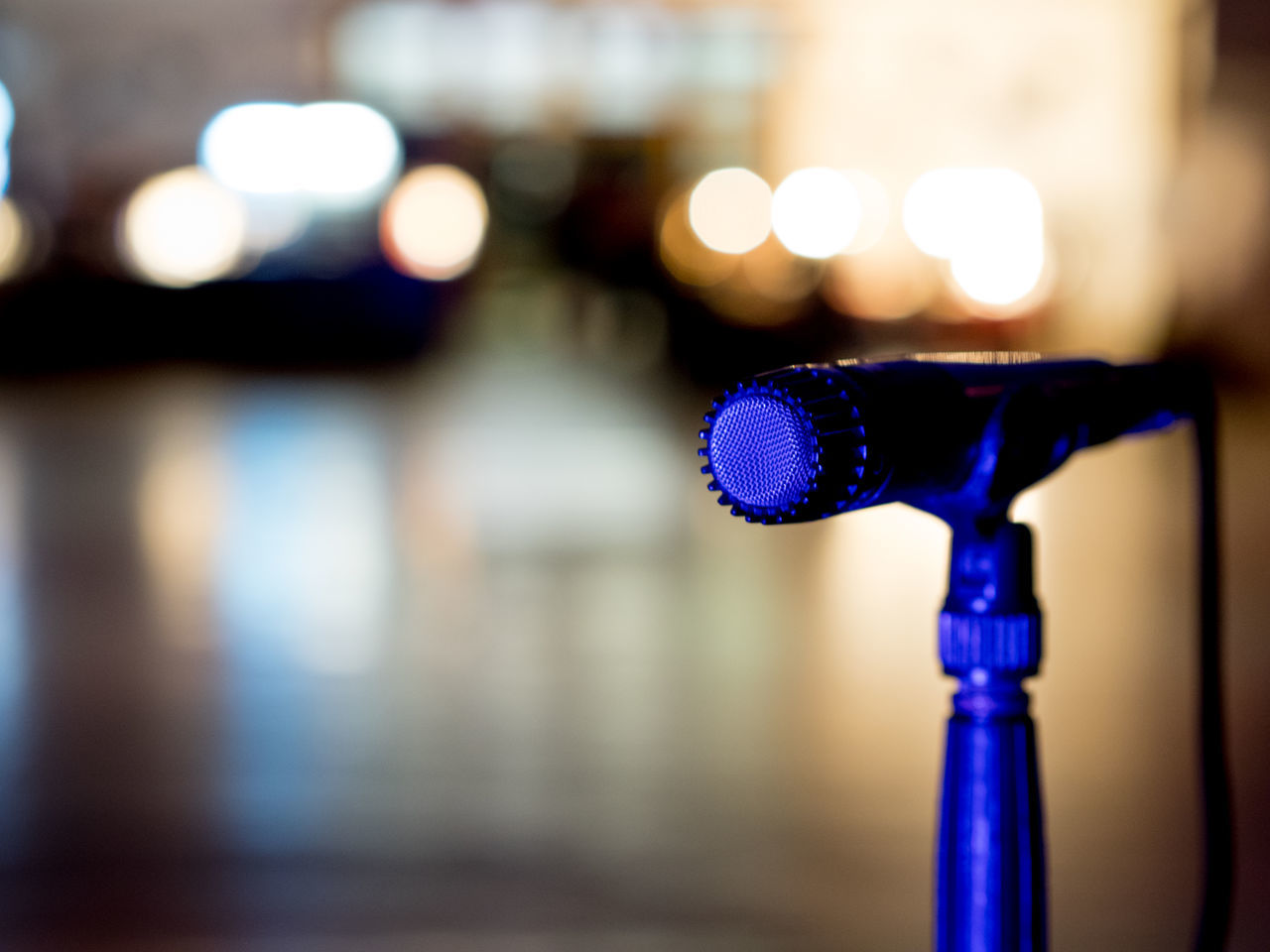 Close-up Focus On Foreground Illuminated Jazz Microphone Music Night No People Outdoors Recording Sing Stage Technology