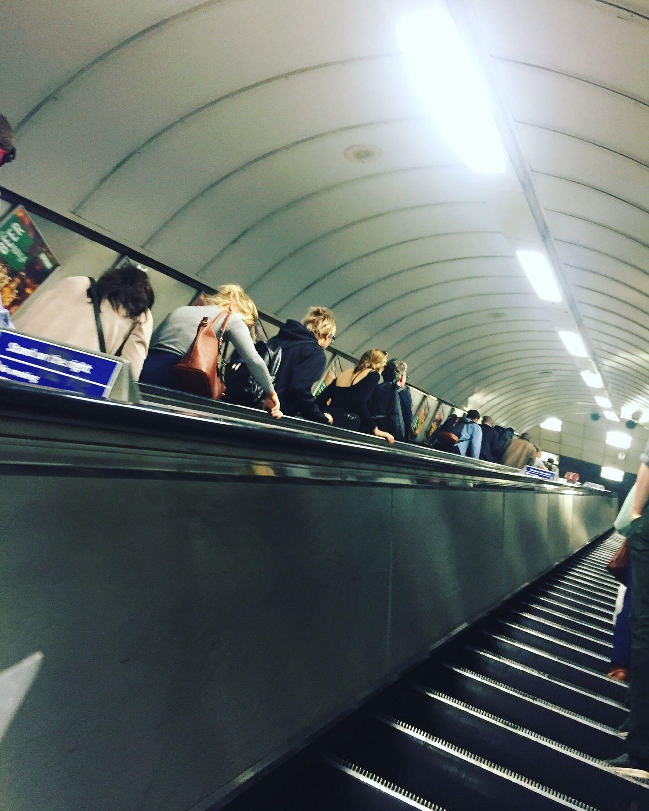 London Tube Underground Travel Escelator