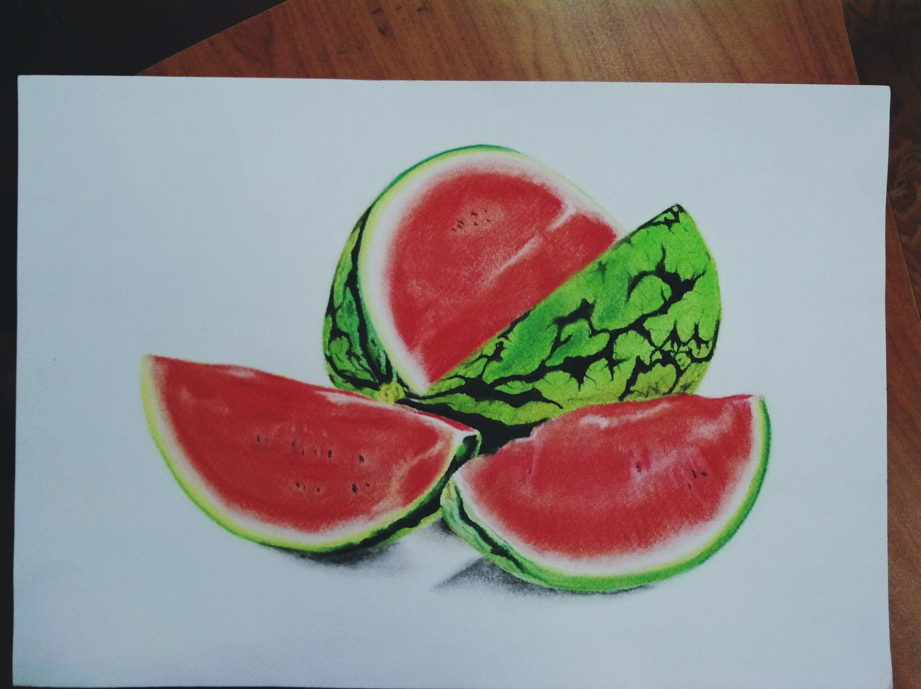 Sandia 🍉 Sandia Watermelon My Draw ♥ Drawing Draw Art, Drawing, Creativity Art Yesoseco