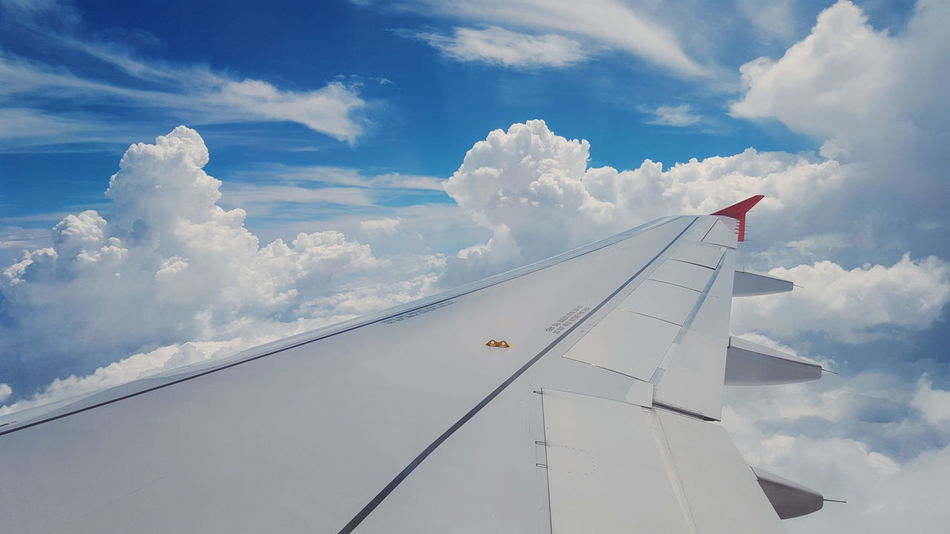 Beautiful stock photos of flugzeug, Air Vehicle, Aircraft Wing, Airplane, Cloud - Sky
