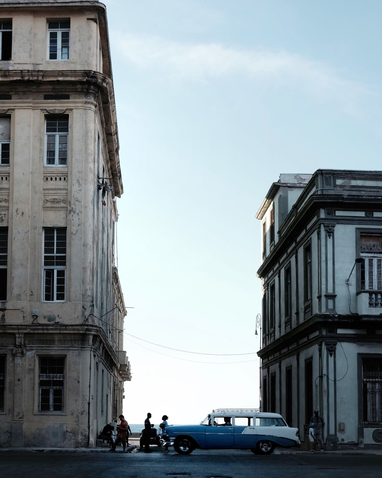 Architecture Built Structure Building Exterior Car Sky Real People Land Vehicle Cloud - Sky Transportation Day Outdoors Men People Travel Cuba Havana Photographing The Street Photographer - 2017 EyeEm Awards