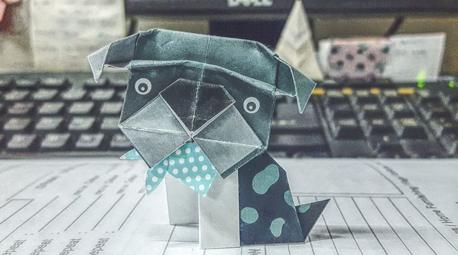 The year of Dog around the corner 🐶 No People Indoors  Origami Art Origami Origami Dog Year Of The Dog Personal Perspective Mobilephotography Showcase January Showcase January 2018 Check This Out My Point Of View EyeEm Of The Week Fresh On Eyeem  Art And Craft Dogs Of EyeEm Dog