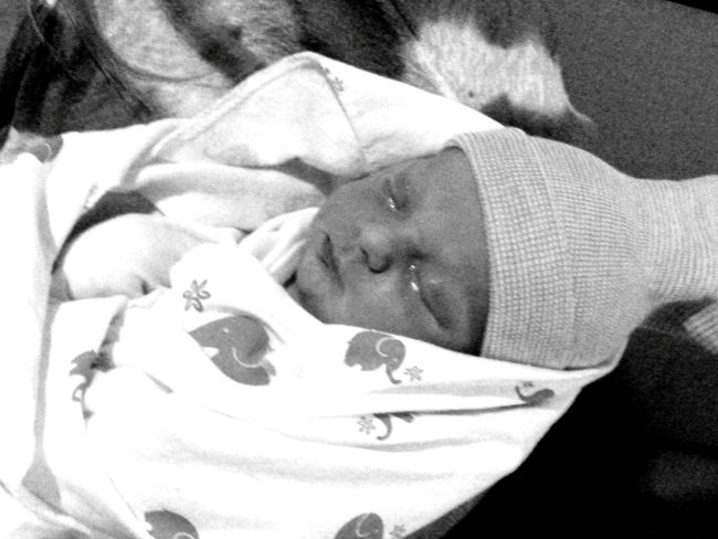 Newborn Baby's First Day Sleeping Baby  Precious Moments The Miracle Of Life