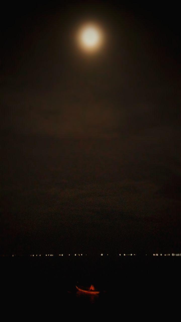 sunset, night, sky, illuminated, nature, silhouette, beauty in nature, scenics, outdoors, moon, no people