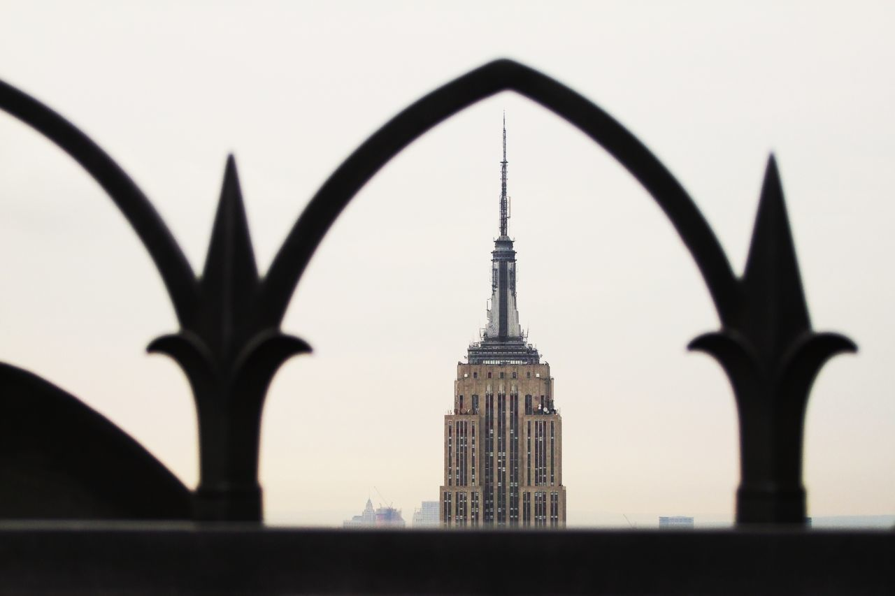 View of Empire State Building Architecture Art Deco Balustrade Building Exterior Built Structure City Day Empire State Building Famous Place Historic Iron Landmark Manhattan New York No People Outdoors Sightseeing Silhouette Sky Skyscraper Tourism Tourism Destination Tower Travel Destinations Wrought Iron
