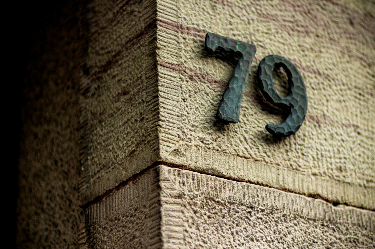 Blue Close-up Door Number Man Made Object Metal No People Old Street Number