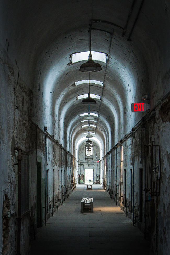 Philadelphia Philly Eastern State Penitentiary Prison Prison Cell Perspective Perspective Photography Architecture Architectural Detail Light And Shadow Light Shadow Fine Art Photography