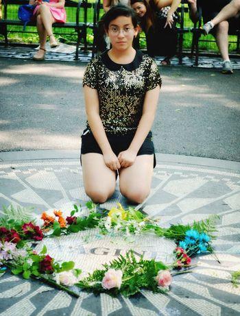 Central Park New York John Lennon Imagine