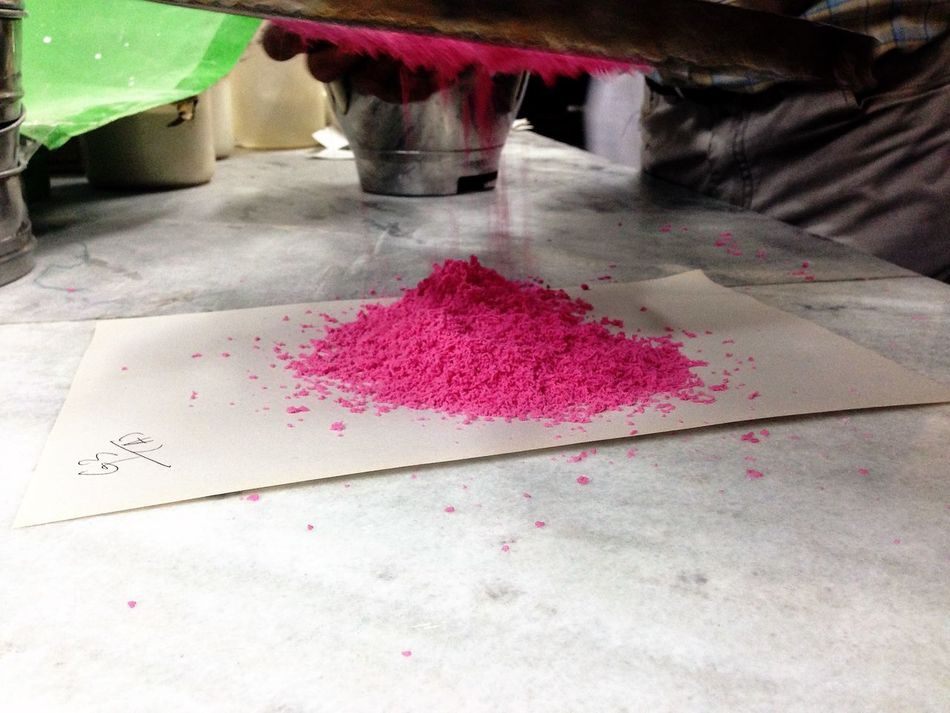 Bright Broken Colour Drug Falling Indoors  Lab Paper Pharmacy Pink Pretty Sieve  Sieving Wet
