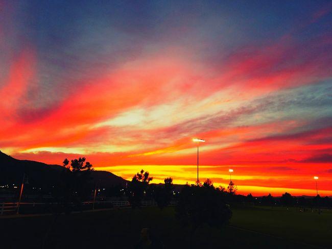 Temecula Temecula Sunset Red Sky Orange Sky Sunset Orange Yellow Yellow Sky, Sunset. Silhouette Silouette & Sky