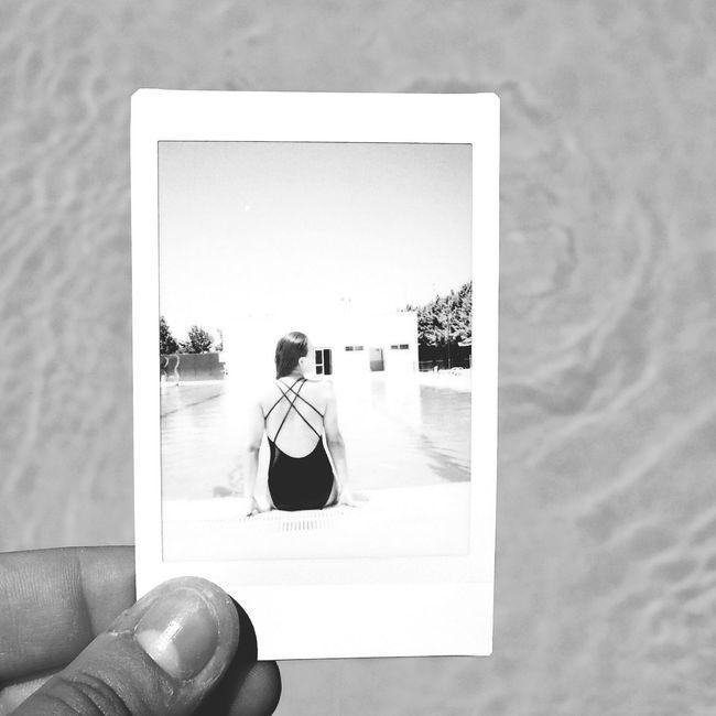 Esraontheroad Esrageziyor Summer Pool Polaroid Summertime Blackandwhite