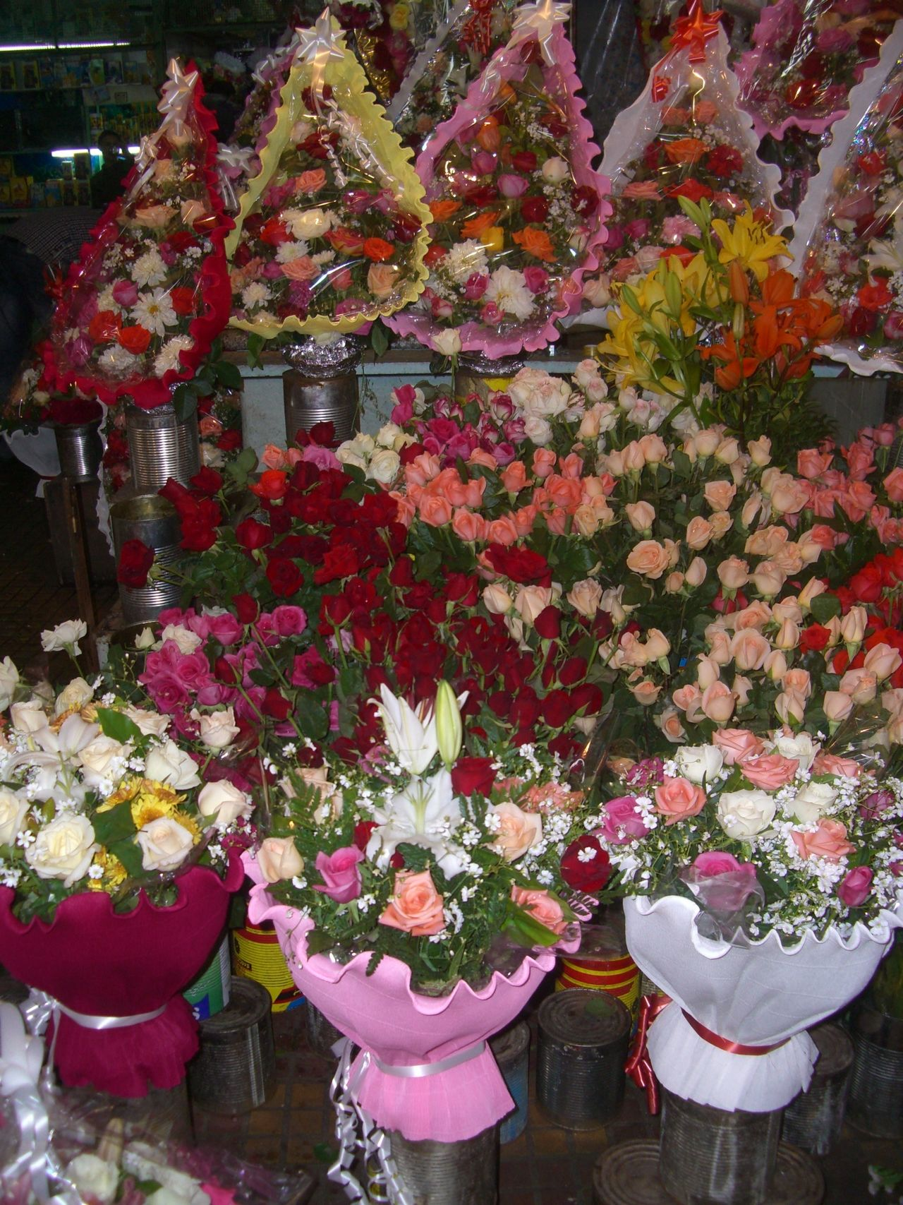 Flower Display, Medina Celebration Composition Flower Display Flower Market Flowers Freshness Full Frame Indoor Photography Medina Morocco Multi Coloured No People Tangier