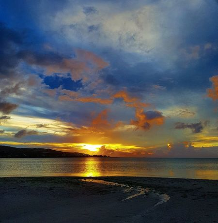 Guamsunset Lowtide At Sunset Island Life Outdoors Reflection Sunset Sky Beauty In Nature Cloud - Sky Nature Beauty Relaxing