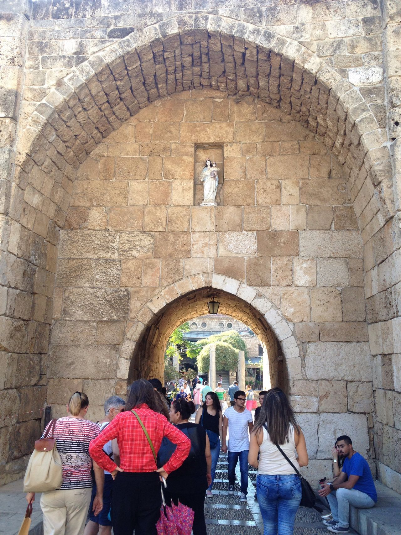 Our Lady Of The Gate Old Souk Byblos Lebanon East Mediterranean