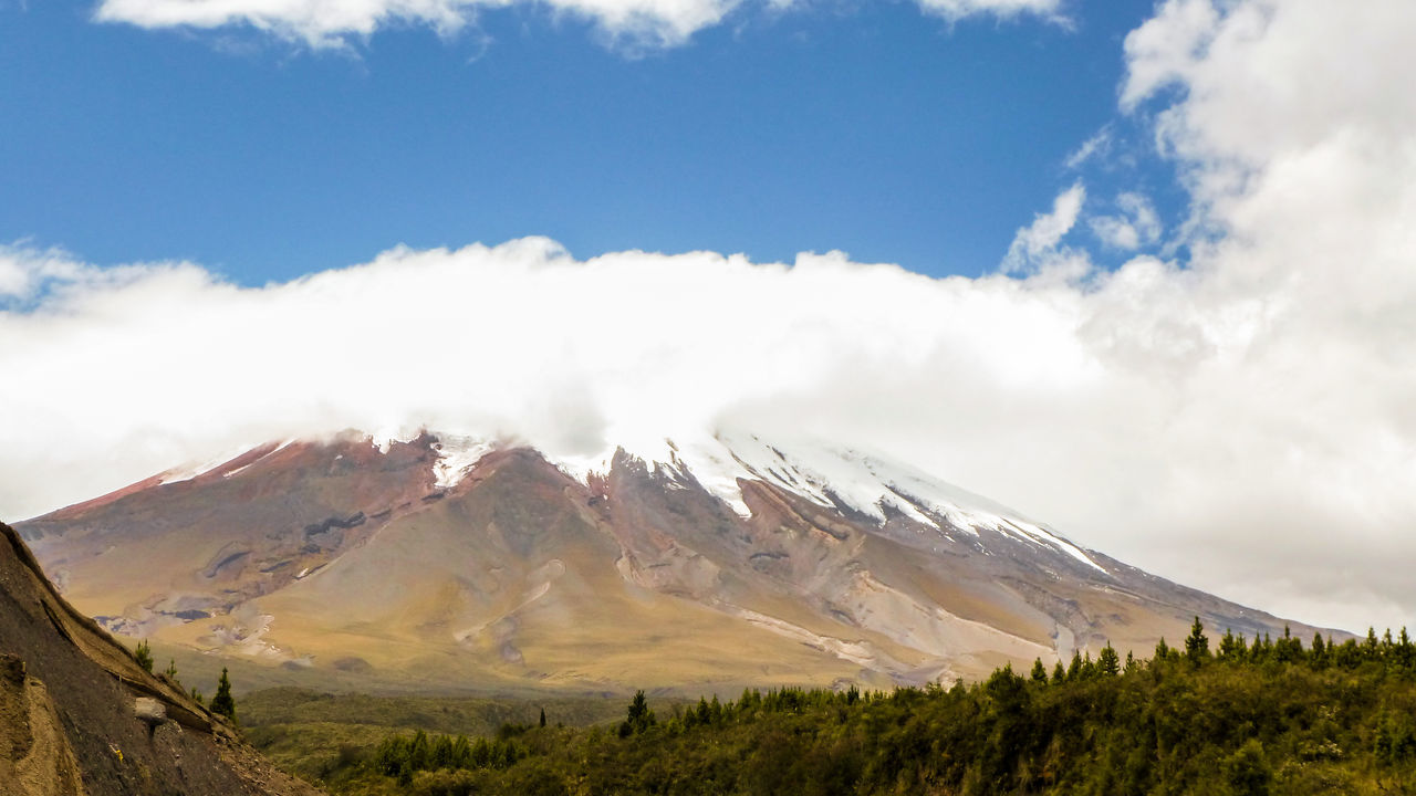 Scenic View Of Cotopaxi Mountain Against Sky