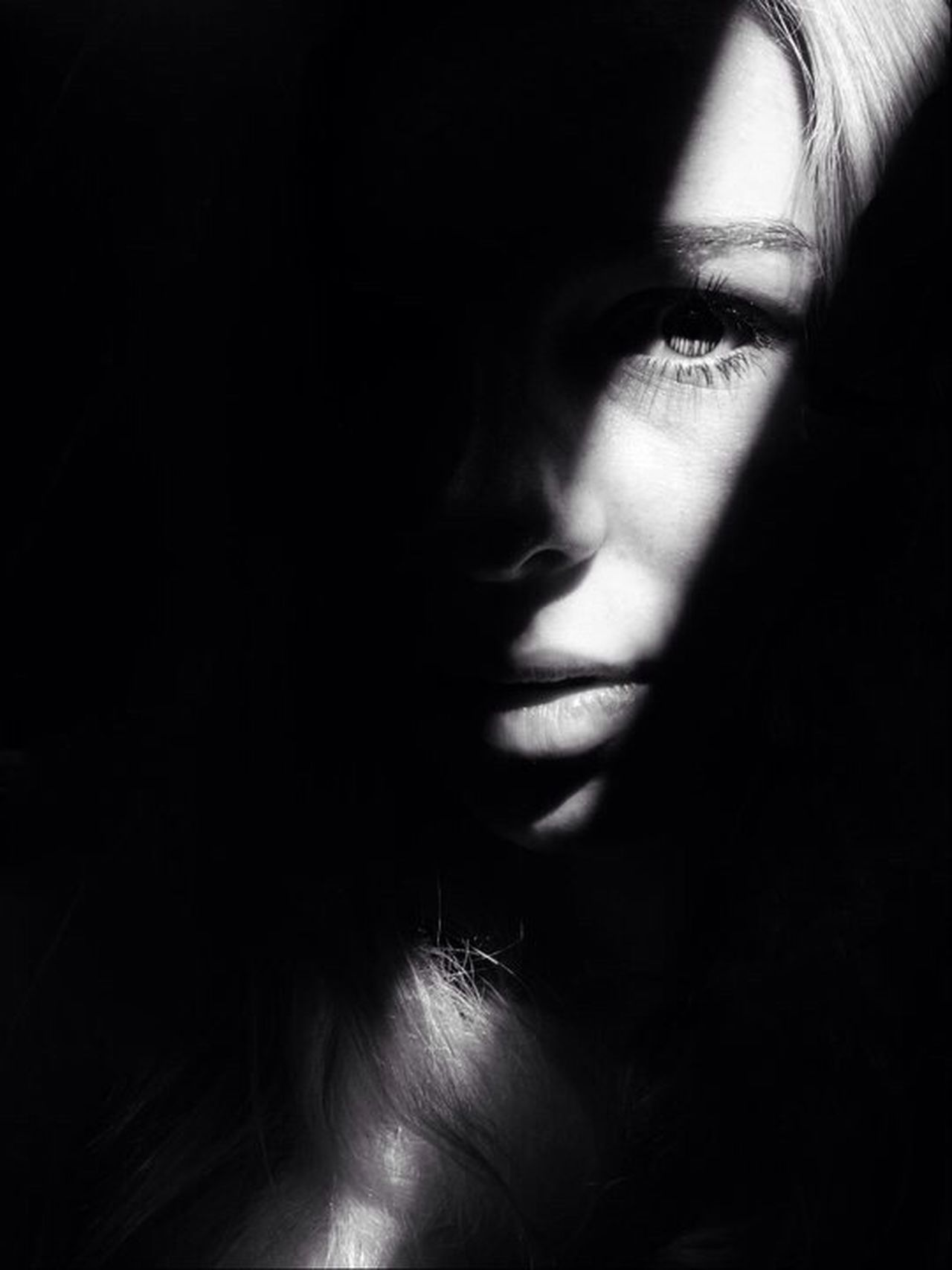 Portait Black And White Mystery Eyes Market Bestsellers 2017