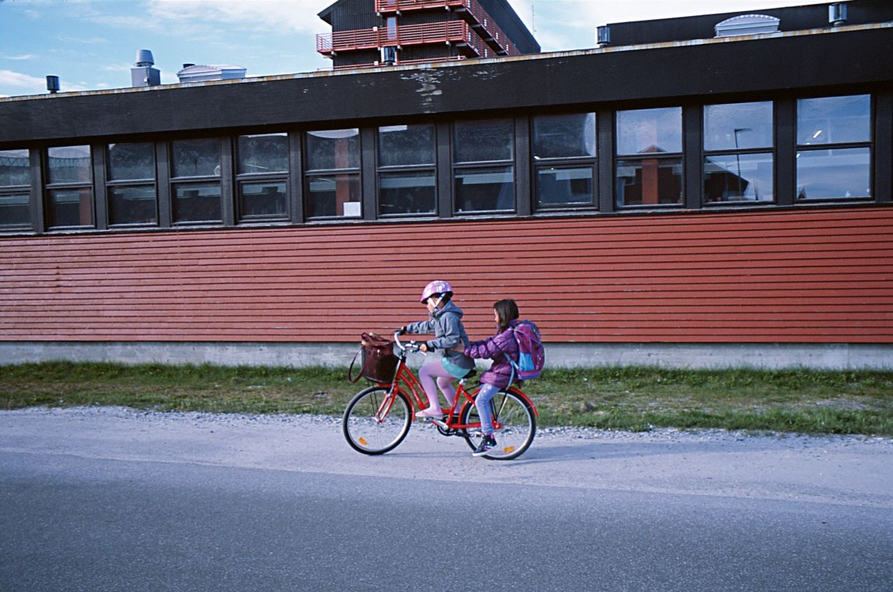 Leicacamera Leicam6 Analogue Photography Film Photography Bicycle Kids Greenland Nuuk