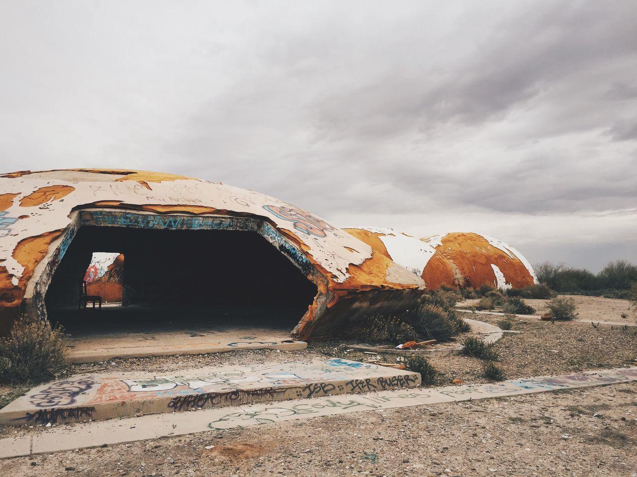 Domesday Dome Traveling Travel Roadtrip Desert Arizona Aliens Vscocam VSCO