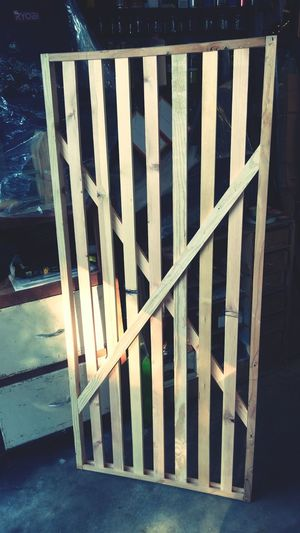 Almost finished with my 5' pet gate! Wooden Door Woodwork  Diy Project Pet Gate