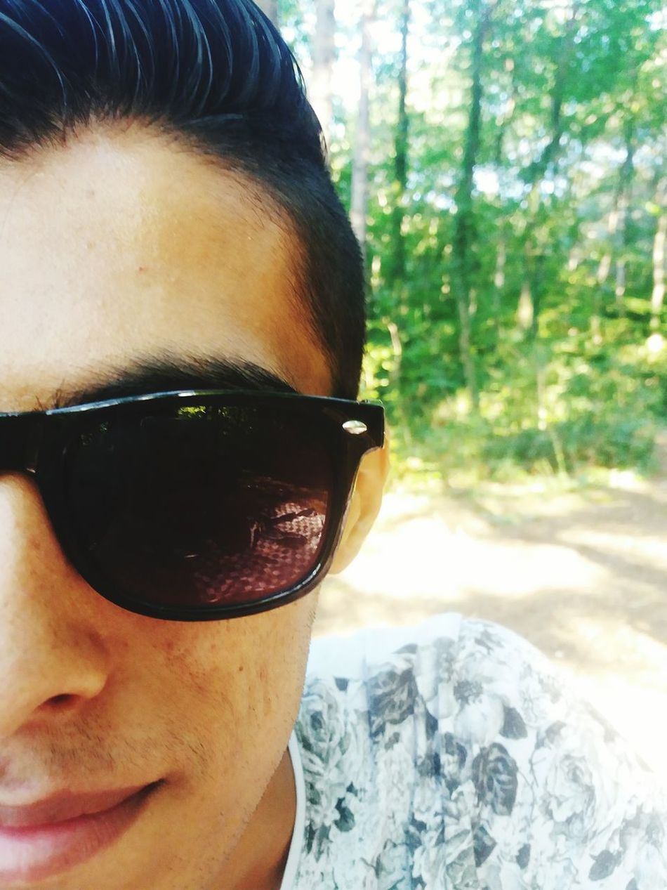 Fine Art Photography Guy Glasses Glassesselfie Forest One Person Watching Forest Path Natural Beauty
