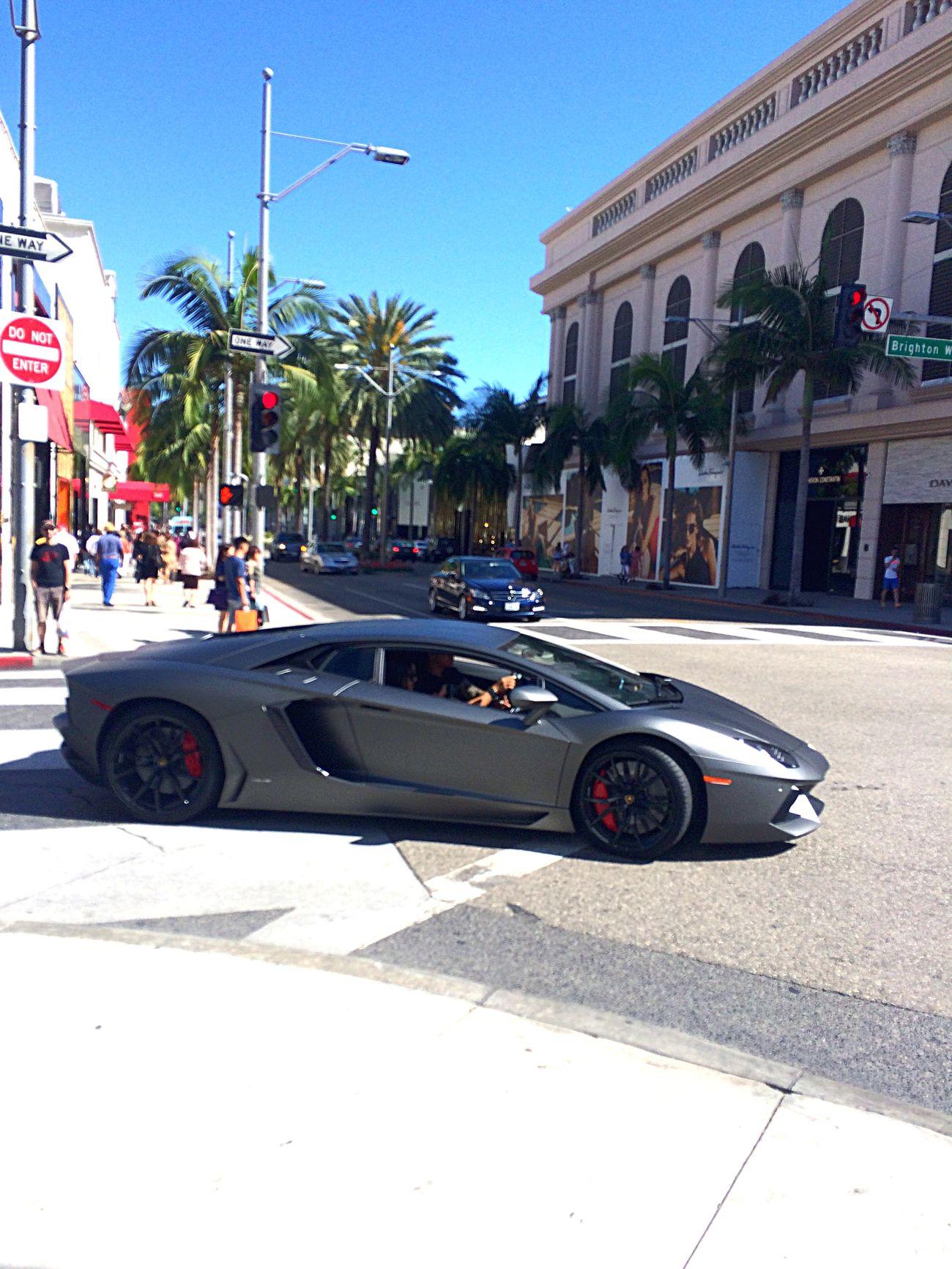ロサンゼルス ビバリーヒルズ ロデオドライブ Losangeles Beverly Hills Rodeodrive ランボルギーニ アベンタドール Lamborghini Aventador Lamborghini