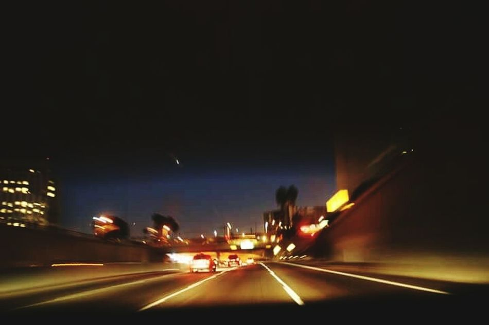 Photography In Motion DTLA 101Fwy Speeding Along Nightphotography