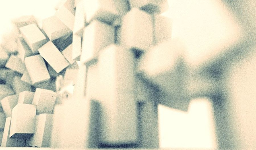 CINEMA4D Abstract Cubes Blocks Tumble Structure Black And White Geometric Motiondesign Depth Of Field