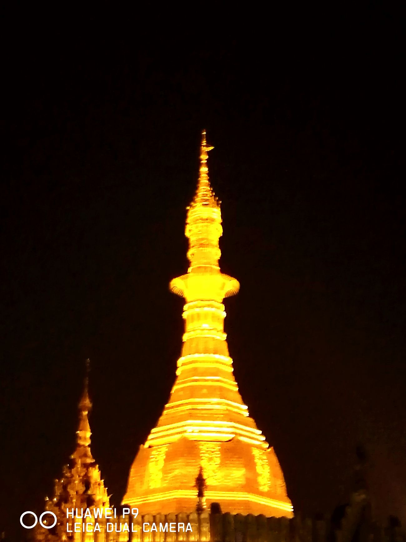 Religion Place Of Worship Pagoda Architecture Gold Colored Ancient Glittering Night Gold Cultures Sky No People Outdoors Sule Pagoda, Yangon Myanmar View Golden Light Precious Buddhist My Year My View Nightphotography