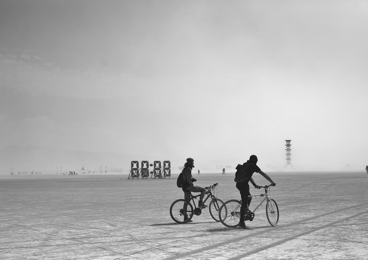 """""""And as we stopped and watched time, it had already gone by; it had moved in another direction, and all we were left with, was a memory."""" Adventure Bicycle Black And White Burning Man Creative Cycling Day Different Dream Exploring Goals Lifestyles Live Memories Mindfulness On The Move Riding Sand Silhouette Time Time To Reflect Tranquil Scene Transportation Travel Wanderlust First Eyeem Photo"""